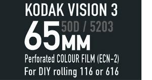 KodakVision3 (50ft)  65mm 50D / 5203 MotionPictureFilm for 166 / 616 DIY rolling