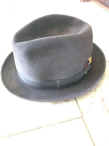 Vintage 1950s 1960s Knox Brown Fur Felt Hat Mens 7