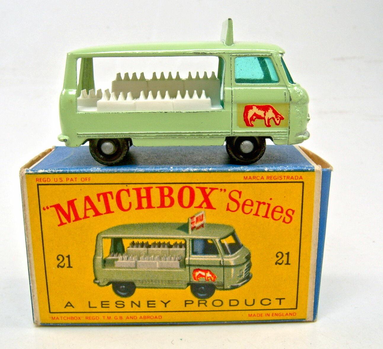 comprar nuevo barato Matchbox Matchbox Matchbox RW 21c Milk float negra ruedas mediana años 24 perfil en  d  box  compra limitada