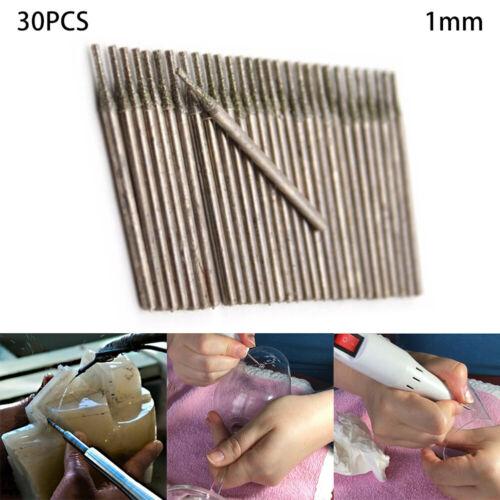 30Pcs 1mm Diamond Core Drill Bits Hole Saw Cutter Coated Solid Bit Useful