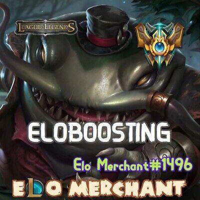 LOL BOOSTING | ELO BOOSTING | ELOBOOST | EUW, EUNE, NA, ALL SERVERS |  ELOMERCHAN | eBay