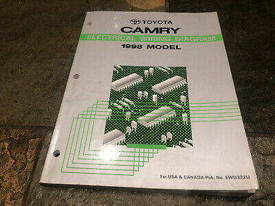 1998 toyota camry wiring diagrams electrical service manual   ebay  ebay