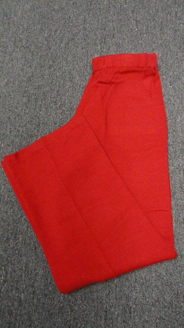 ST. JOHN SPORT rot Wool Santana Knit Drawstring Casual Pant Sz S GG4675