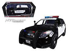 MOTORMAX 1:18 2015 FORD POLICE INTERCEPTOR UTILITY DIE-CAST B&W 73542