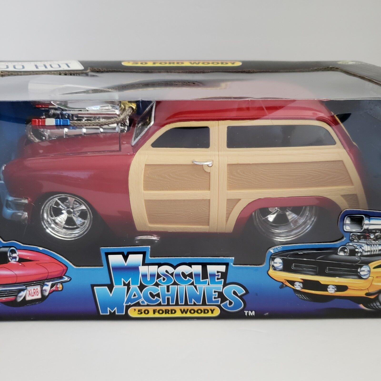 cómodo 1950 Ford Woody Wagon Rojo muscular muscular muscular máquinas 1 18 Scale Die Cast demasiado caliente Nuevo En Caja  online al mejor precio