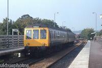 British Rail Derby built 2 car DMU Chapeltown new station South Yorks Rail Photo