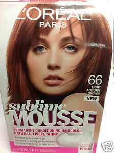 L Oreal Sublime Mousse By Healthy Look Hair Color Light Auburn