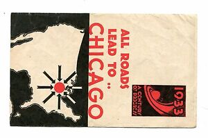 Vintage Brochure CENTURY OF PROGRESS 1933 All Roads Lead To...travel info trains