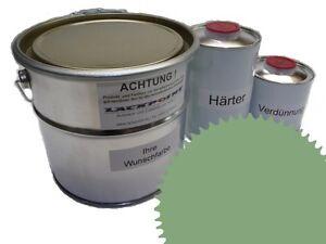 3 Liter Set 2K Floor Coating Ral 6021 Blaßgrün Shine Floor Color Workshop