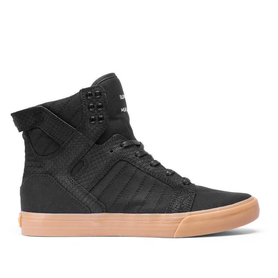 hommes Supra Skytop Chad Muska SkateboardChaussures noir noir noir /Gum NIB 08176-055-M d9f415