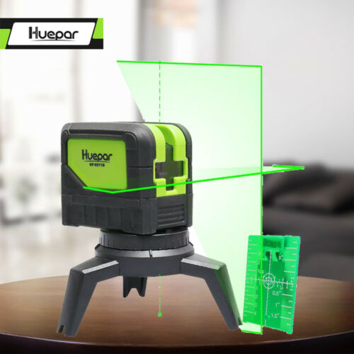 Cross Line Niveau laser avec 2 points Vertical Horizontal Self Leveling huepar 9211