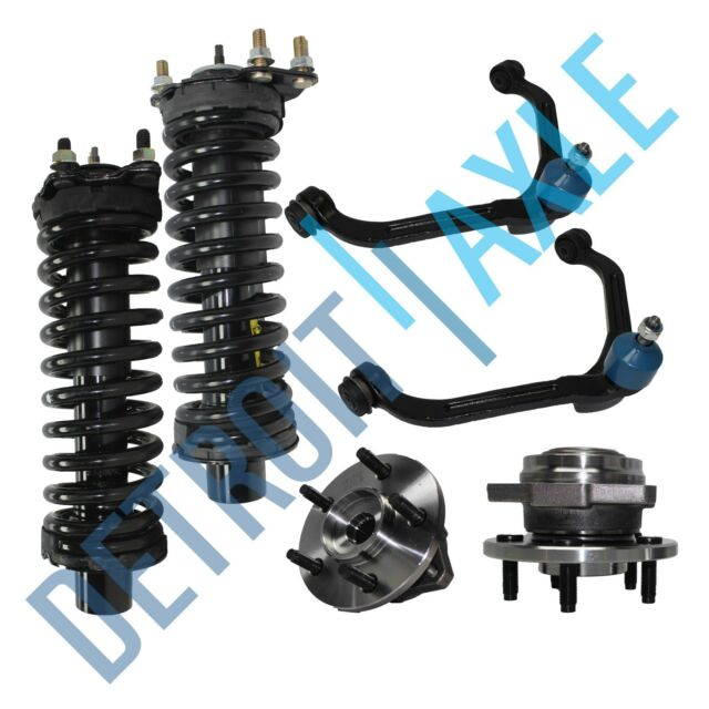 2 Front Upper Control Arm + Ball Joint + 2 Complete Struts + 2 Wheel Hub Bearing