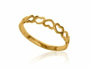 10k solid yellow gold ring baby childrens size