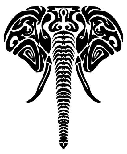 Tribal Elephant vinyl Decal Sticker