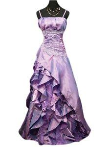 Robe de cérémonie longue violette, cocktail,