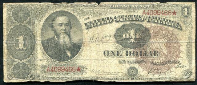 "FR. 347 1890 $1 ONE DOLLAR ""ORNATE BACK"" TREASURY NOTE"