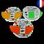 Indexbild 1 - Dessous de plat souple et manique en silicone 22x17,5 cm 3 couleurs au choix