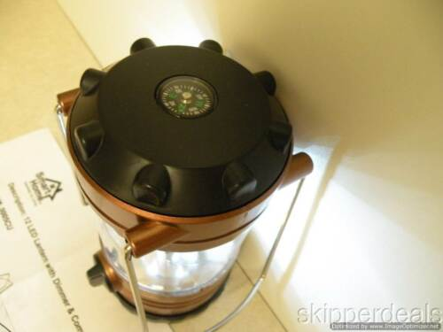 LANTERN WITH DIMMER /& COMPASS /& 12 LED BRAND NEW