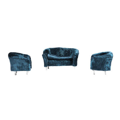 Blue 1//30 Double Sofa Couch Furniture for Action Figures Doll Accessory
