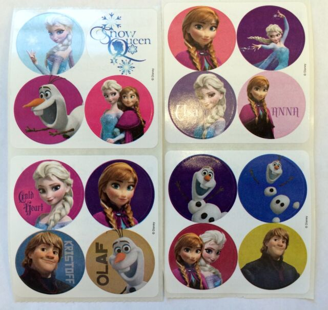 48 Disney Frozen Stickers  Party Favors Elsa Anna Olaf Kristoff Teacher Supply