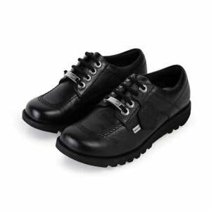 Kickers-Youths-Kick-Lo-Luxe-Leather-Shoes-Black