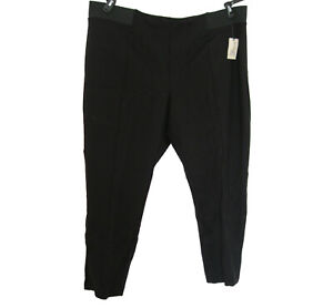 New Ponte Pants Black Career Plus Size 3X 24W 26W Black Soot Pull ON Terra & Sky