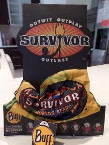 SURVIVOR-BUFFS-Worlds-APART-Yellow-GOLD-Masaya-TRIBE-BUFF-BNWT-MINT-Condition