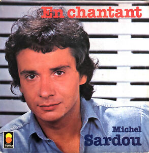 Michel-Sardou-7-034-En-Chantant-Label-plastique-France-EX-EX