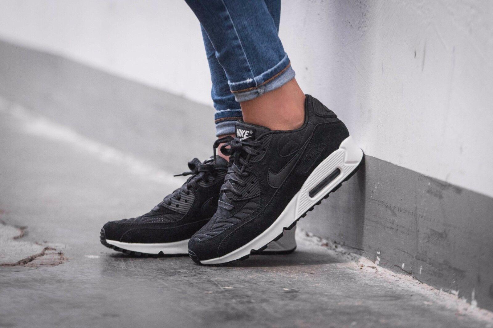 Nike Air Max 90 Premium  black/black/ivory 443817-009 Wmn Sz 10