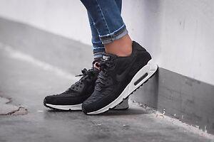 super popular 86e79 b13c7 Image is loading Nike-Air-Max-90-Premium-black-black-ivory-