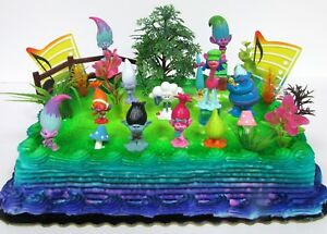 Image Is Loading Trolls 20 Piece Themed Birthday Cake Topper Set