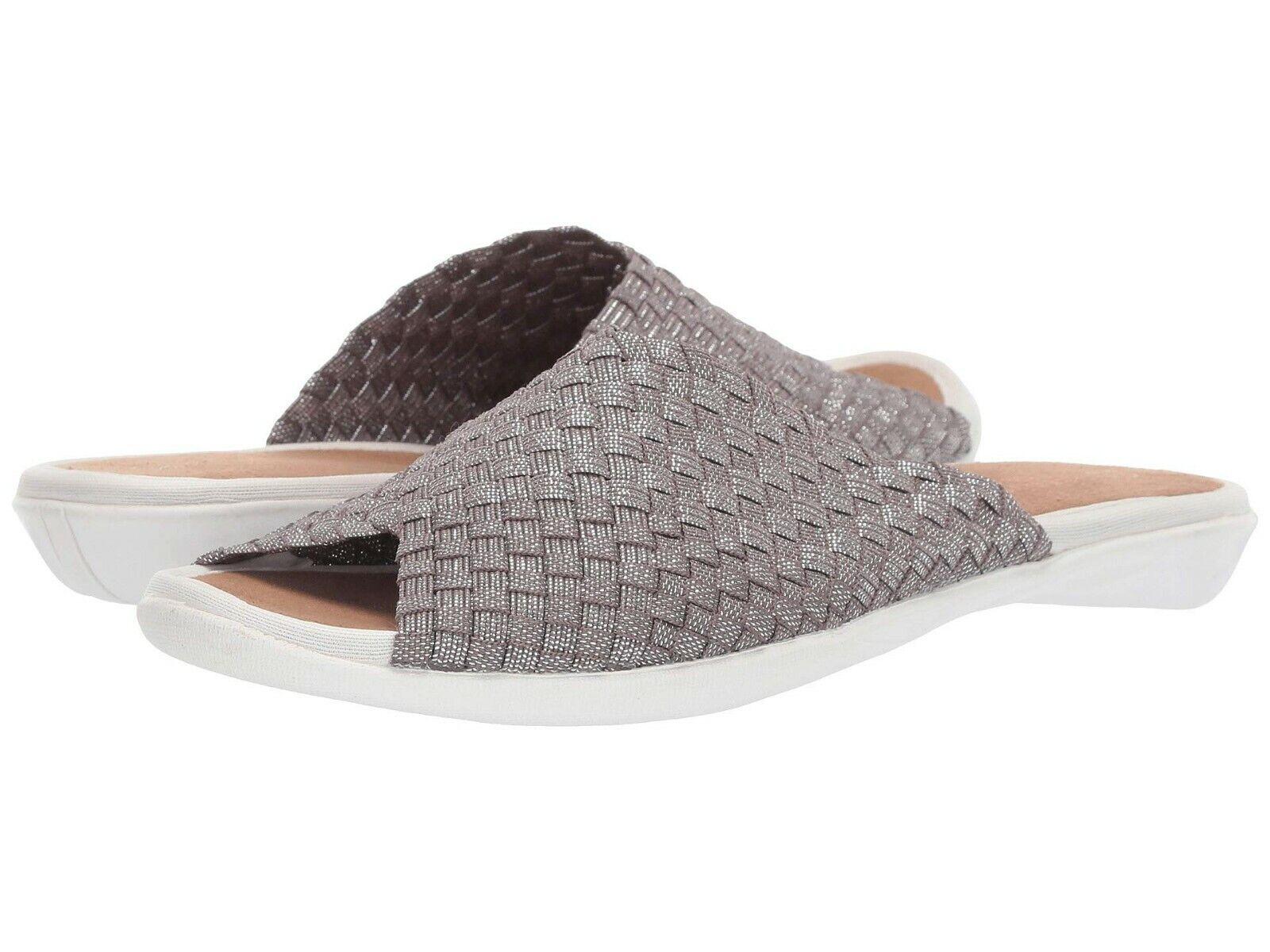 Chaussures femmes Bernie Mev Bon Bon Slip on Slide Sandale fumée SCINTILLANT  NEUF