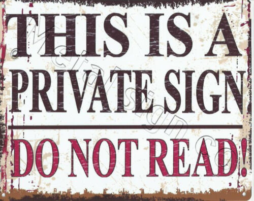 PRIVATE SIGN FUNNY METAL SIGN RETRO VINTAGE STYLE SMALL shop cafe coffee office