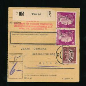 Paket-Karte 1944 aus Wien 64 (H48)