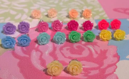 Lindo Pretty Mini Rose Aretes Niñas Bridesmaids Vintage Verano Floral Boho
