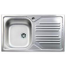 Lavandino Cucina In Acciaio.Lavello Da Cucina Acciaio Inox Apell Atmosfera Vasca Singola