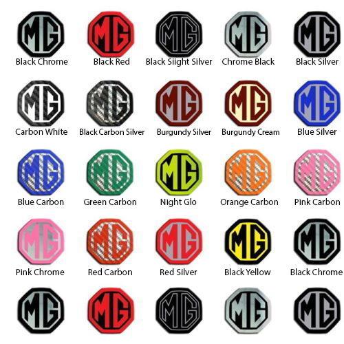 MG ZS Car Steering Wheel Badge Choice Colour Self Adhesive