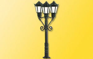 Viessmann-6477-Piste-N-Lampadaire-trois-lampes-noir-neuf-emballage-d-039-origine