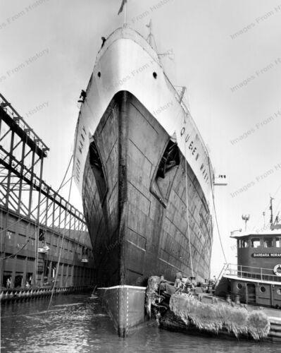 8x10 Print Historic Ship Cunard Line The Queen Mary Steamship #QM89