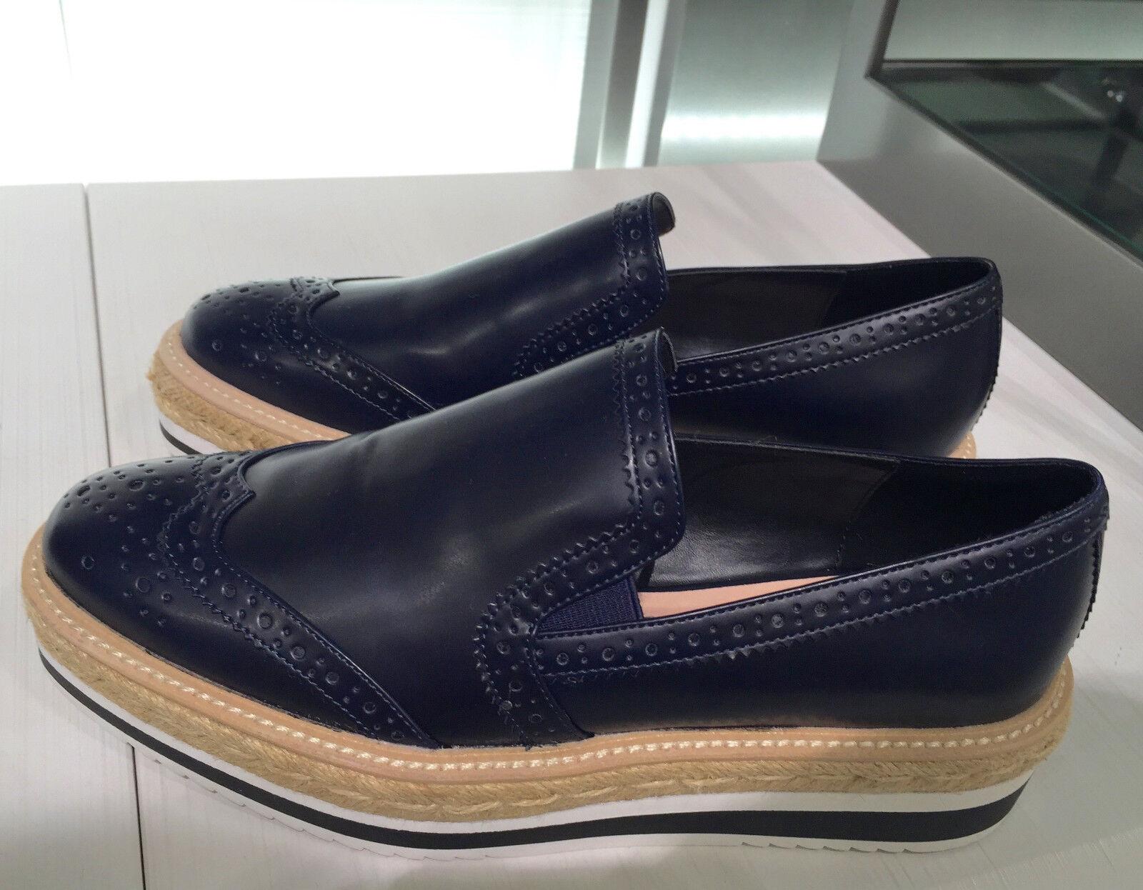 Zara Nuevos Zapatos Zapatos Zapatos De Plataforma Plana de Mujer Azul Marino 36-41 Ref. 3260 101  mejor vendido