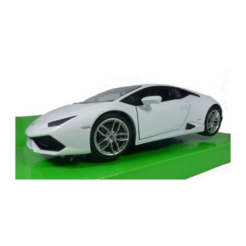 Welly 24056 Lamborghini brochure LP 610-4 blanco escala 1:24 coche modelo nuevo °