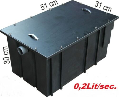 Eliminarla 0,2l//sec grasa-precipitadores fettseparator cocina