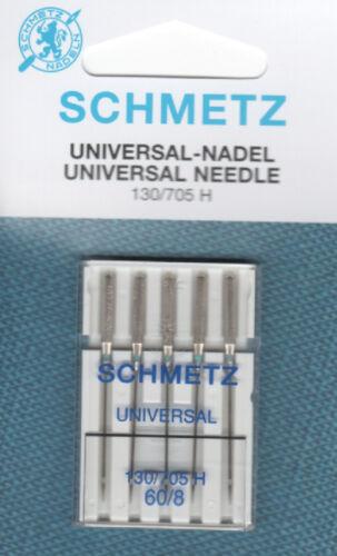 Schmetz universal-aguja 130//705h grosor 60//8 para finas sustancias fina