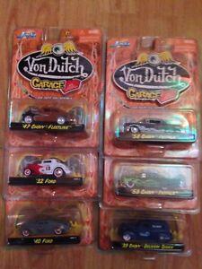 Rare Jada Toys Von Dutch Garage 6 Ensemble Chevy Impala et panneaux peints