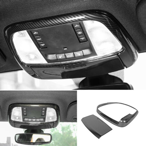 For Jeep Grand Cherokee 2011-2020 Carbon Fiber Front Reading Light Cover Trim