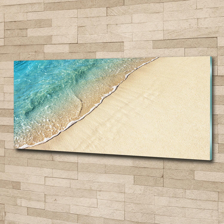 Murales de pantalla de vidrio de 125 la impresión en vidrio 125 de x 50 paisajes decorativos onda playa cf3cca