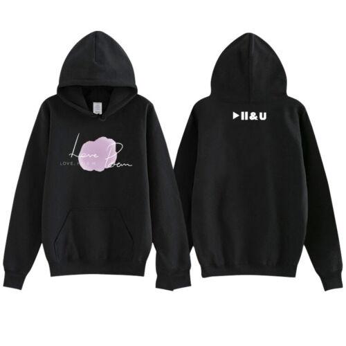 Kpop IU LOVE POEM Concert Unisex Cap Hoodie Coat D043