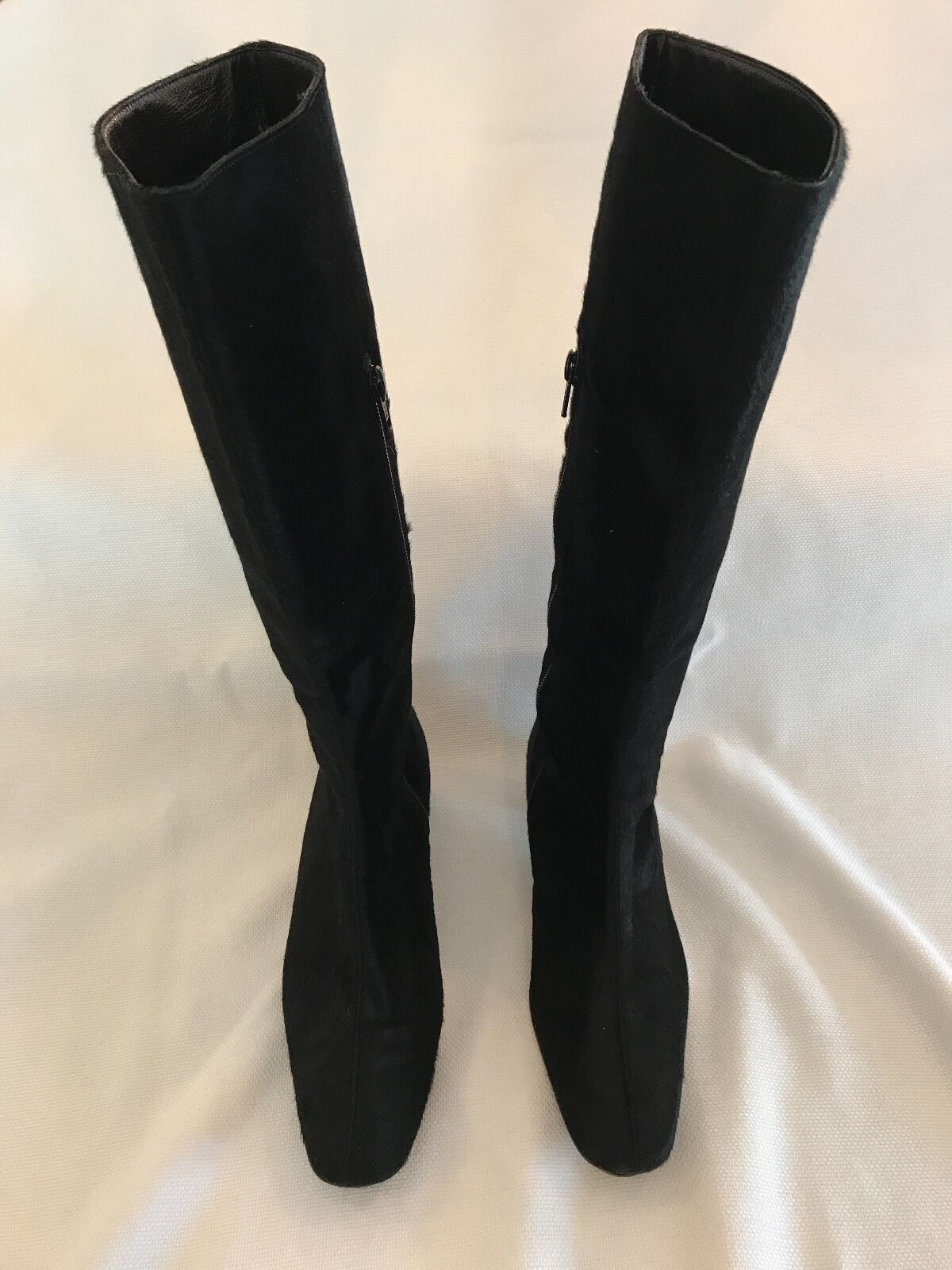 L. K. BENNETT Calf Hair Black Boots, Women's Size 6, Hardly Worn, Gorgeous!