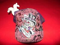 Don Ed Hardy Skull Top Hat Dice Hat One Size