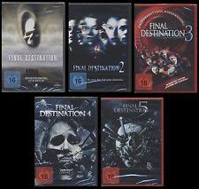 DVD FINAL DESTINATION 1 + 2 + 3 + 4 + 5 - FSK 18 - 5 DISC SET - HORROR-KULT *NEU
